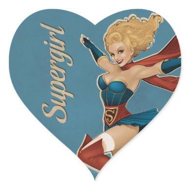 Supergirl Bombshell Heart Sticker