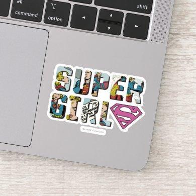 Supergirl Comic Logo Sticker