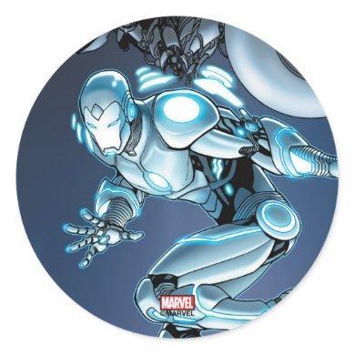 Superior Iron Man Suit Up Classic Round Sticker