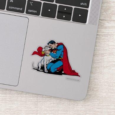 Superman and Krypto Sticker