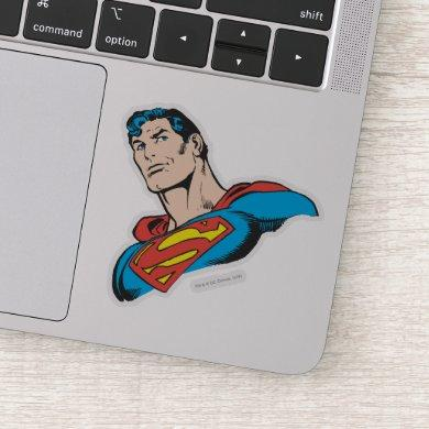 Superman Bust Smirk Sticker