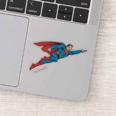 Superman Flying Right Sticker