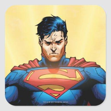 Superman Flying Square Sticker