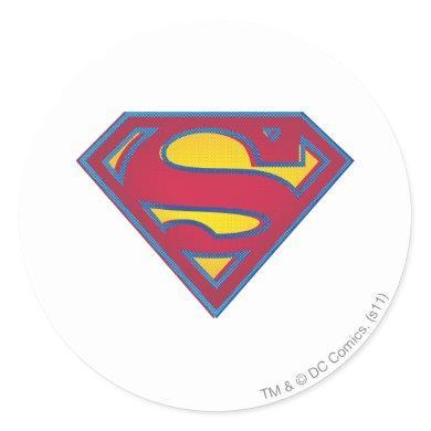 Superman S-Shield | Dot Logo Classic Round Sticker