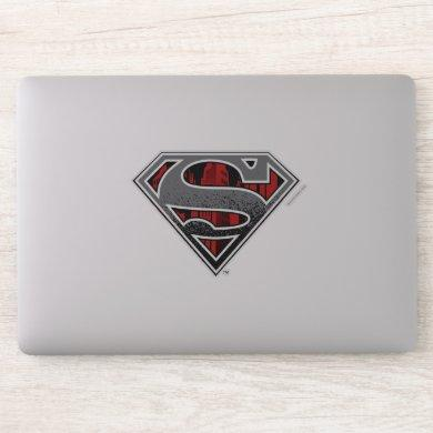 Superman S-Shield | Grey and Red City Logo Sticker