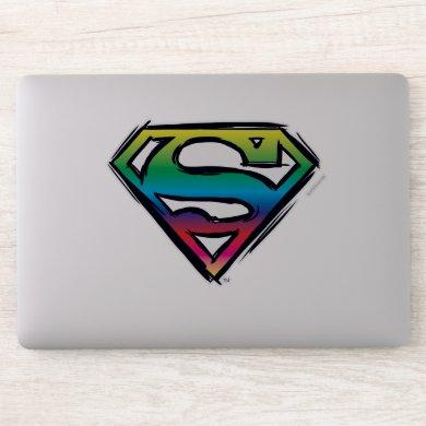 Superman S-Shield | Rainbow Logo Sticker