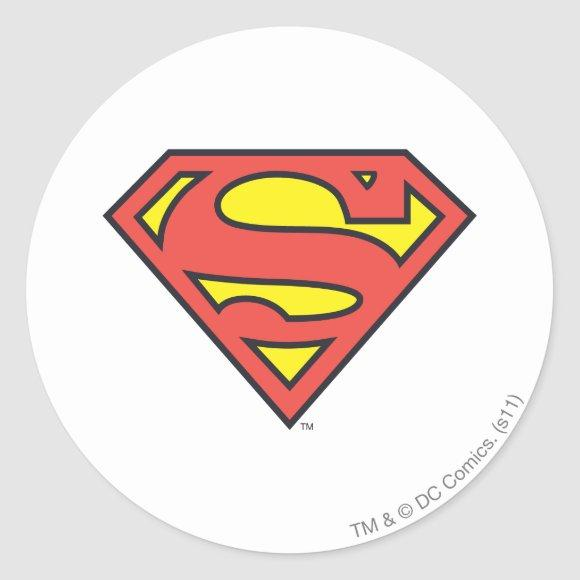 Superman S-Shield | Superman Logo Classic Round Sticker