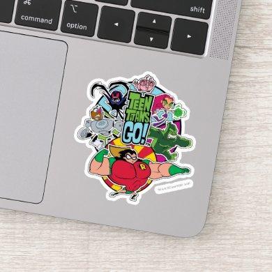 Teen Titans Go! | Team Group Graphic Sticker