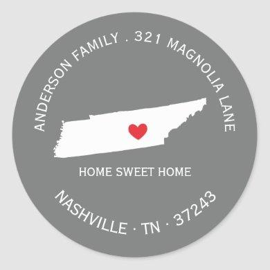 TENNESSEE | New Home Address Label Sticker