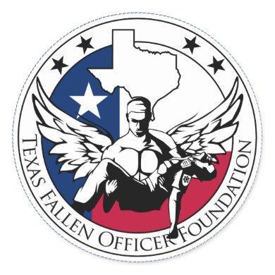Texas Fallen Officer Foundation Classic Round Sticker