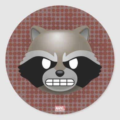 Texting Rocket Emoji Classic Round Sticker