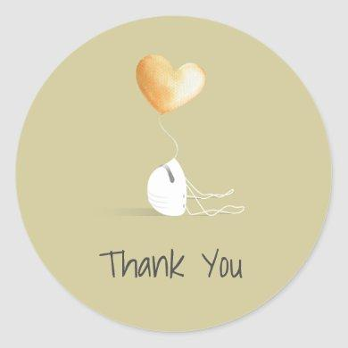 Thank You - the Coronavirus Edition Classic Round Sticker