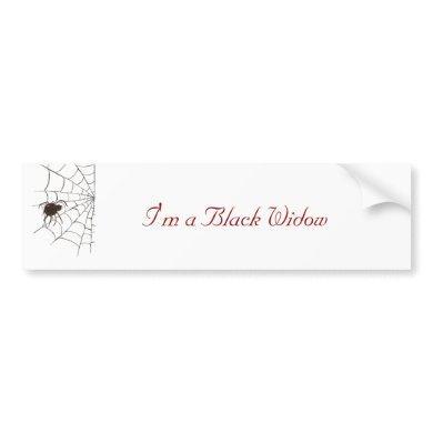 The Black Widow Bumper Sticker