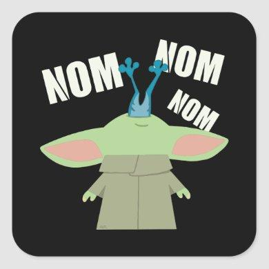 The Child | Nom Nom Nom Square Sticker
