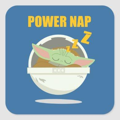 The Child | Power Nap Square Sticker