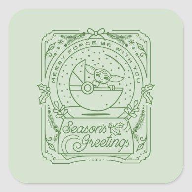 The Child | Season's Greetings Square Sticker