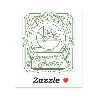 The Child | Season's Greetings Sticker