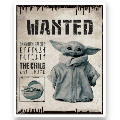 The Child | Wanted Poster Sticker