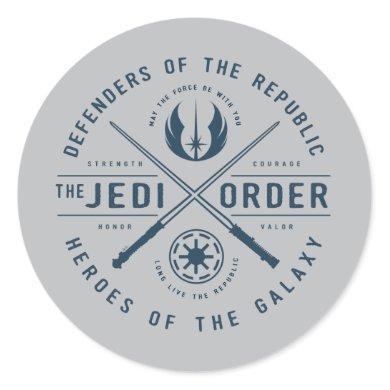 The Clone Wars | Jedi Sabers Emblem Classic Round Sticker
