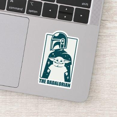 The Dadalorian & Grogu Space Silhouette Badge Sticker
