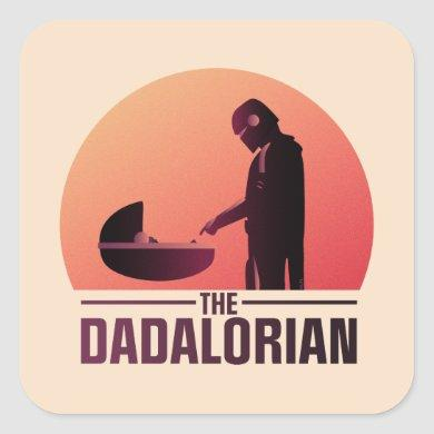The Dadalorian Meeting Grogu Art Deco Graphic Square Sticker