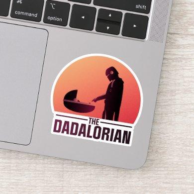 The Dadalorian Meeting Grogu Art Deco Graphic Sticker