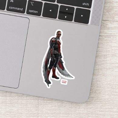The Falcon Character Art Sticker