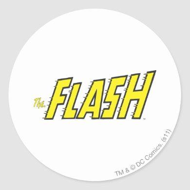 The Flash Logo Yellow Classic Round Sticker