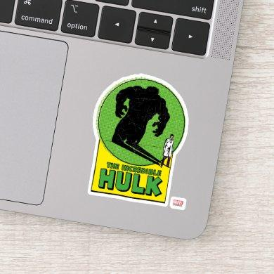 The Incredible Hulk Vintage Shadow Graphic Sticker