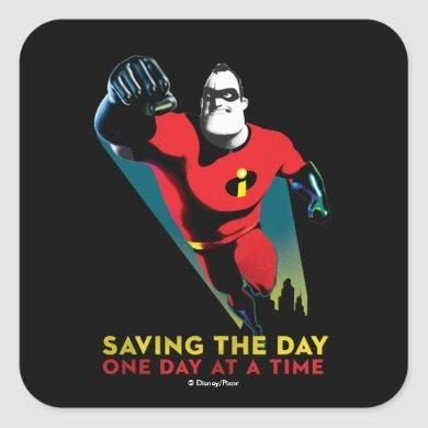 The Incredibles 2 | Saving the Day Square Sticker