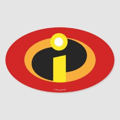 The Incredibles Logo Oval Sticker
