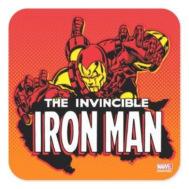 The Invincible Iron Man Graphic Square Sticker