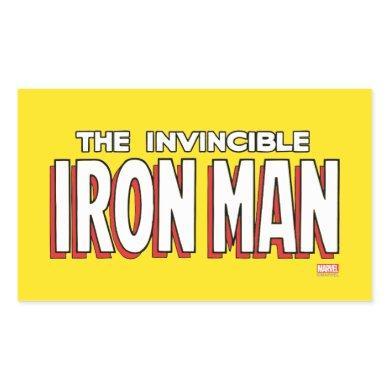 The Invincible Iron Man Logo Rectangular Sticker