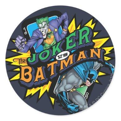 The Joker Vs Batman Classic Round Sticker