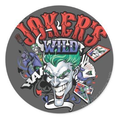 The Joker's Wild Classic Round Sticker