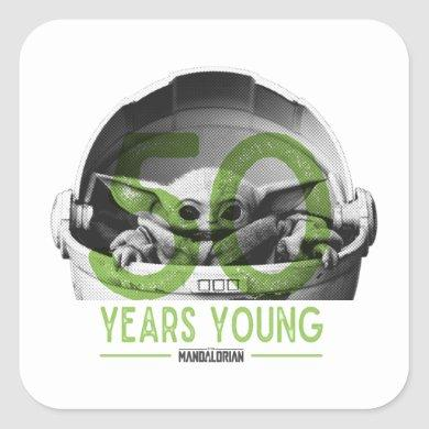 The Mandalorian | 50 Years Young Square Sticker
