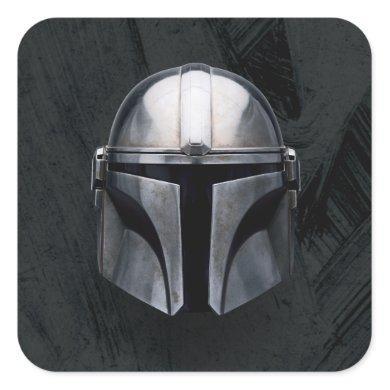 The Mandalorian Helmet Square Sticker