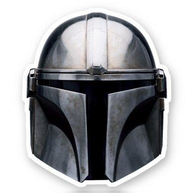 The Mandalorian Helmet Sticker