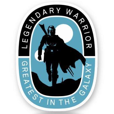 The Mandalorian | Legendary Warrior, Greatest in t Sticker