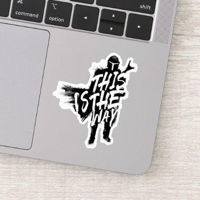 The Mandalorian | This Is The Way Ink Silhouette Sticker