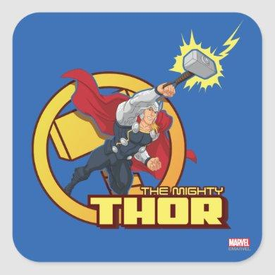 The Mighty Thor Character Graphic Square Sticker