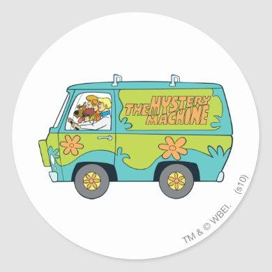 The Mystery Machine Left Side Classic Round Sticker