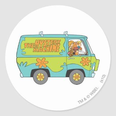 The Mystery Machine Right Side Classic Round Sticker