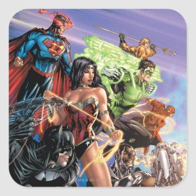 The New 52 Cover #5 Variant Square Sticker