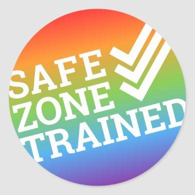 """The Safe Zone Project """"Trained"""" Sticker"""