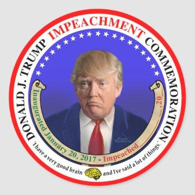 The Trump Impeachment Commemorative Sticker