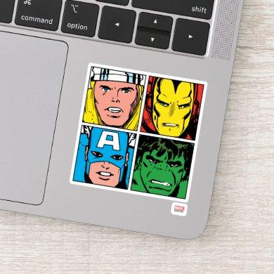Thor, Iron Man, Captain America, Hulk Pattern Sticker
