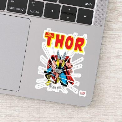 Thor Kneeling With Mjolnir Graphic Sticker