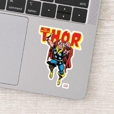 Thor Punching Attack Sticker