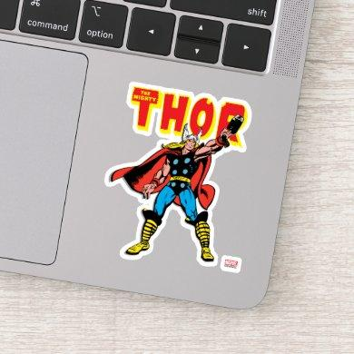 Thor Raising Mjolnir Sticker